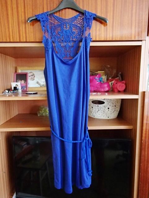 Dresowa sukienka boho kobalt...