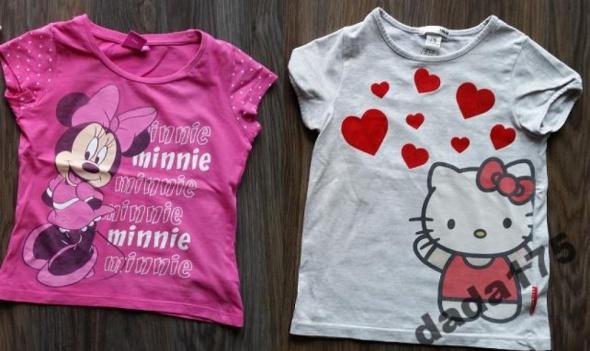 2 x bluzeczki myszka minnie i hello kitty