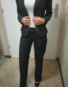 Komplet elegancki Żakiet spodnie i spódniczka