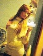 Biały sweter long gratis pasek złota nić