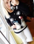 Sweter świecący pingwiny