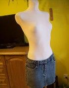 jeansowa krótka spódniczka 164 170 cm M