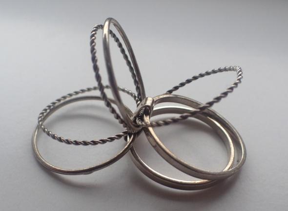 Obrączki Obrączka 7 w 1 srebro 925