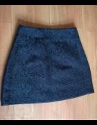 Mini czarna Forever21 tłoczone wzory spódniczka