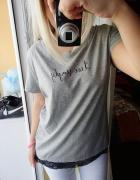 Koszulka bluzka koronka brokat napis
