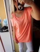 Neonowa sportowa bluzka oddychająca lace up