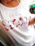 Luźna bluzka kwiaty