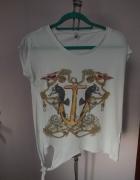 Biała koszulka Stradivarius S