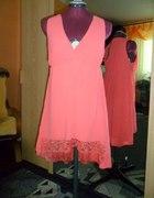 Różowa asymetryczna sukienka