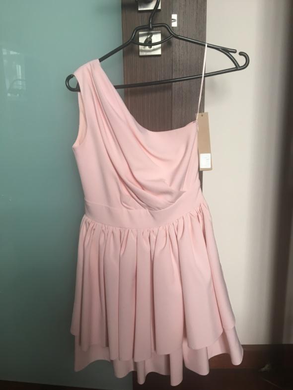 Suknie i sukienki Pudrowo różowa sukienka NOOK