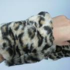 Debenhams panterkowe rękawki mufki ocieplacze
