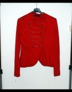 Bluza czerwona militarna wygodna retro 38 M 40 L