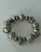 srebrna bransoleta bransoletka z koralików