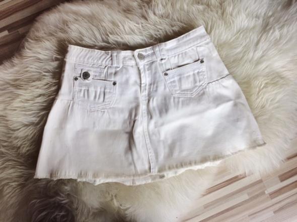 Spódnice Biała spódniczka spódnica mini rozkloszowana