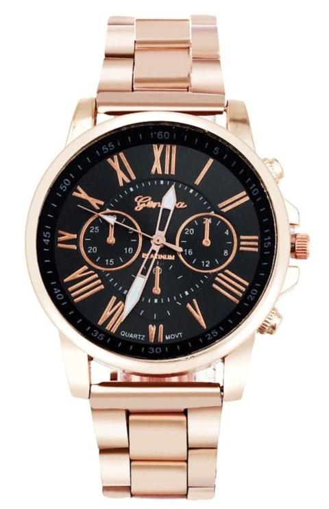 Zegarki Zegarek na bransoletce w kolorze różowego złota
