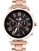 Zegarek na bransoletce w kolorze różowego złota...