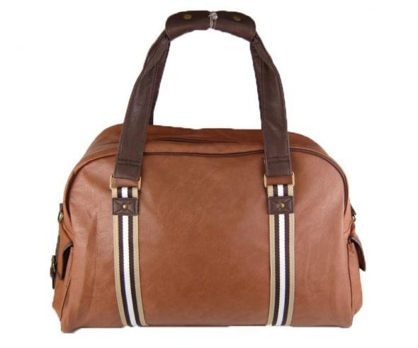 Karmelowa stylowa torba podróżna vintage retro