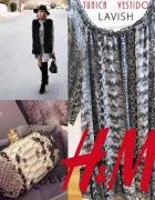H&M sukienka tunika animal print 36 S bluzka