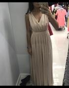 Złota sukienka błyszcząca jak Luna Lou