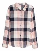 Koszula H&M krata różowa...