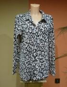 Bluzka koszulowa czarno różowa 44