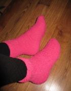 Skarpetki fluffy ciepłe puszyste różowe