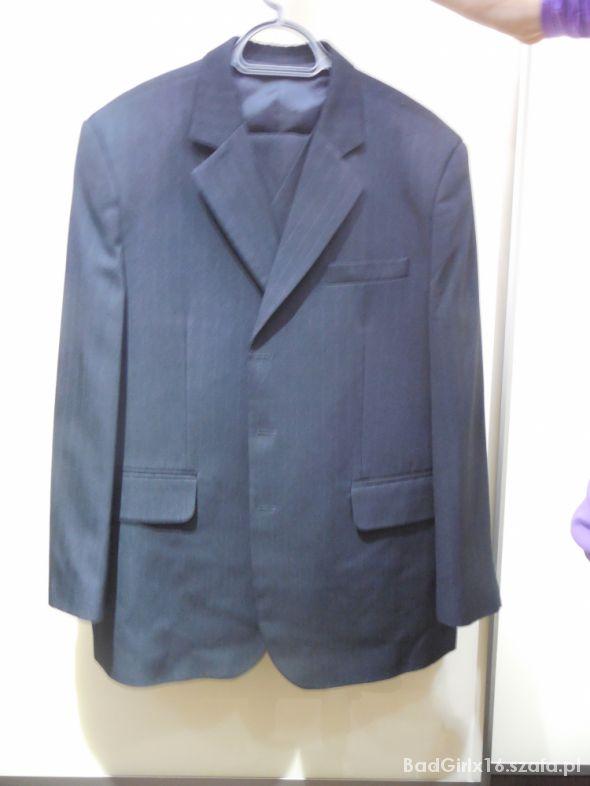 czarny garnitur 3 częściowy