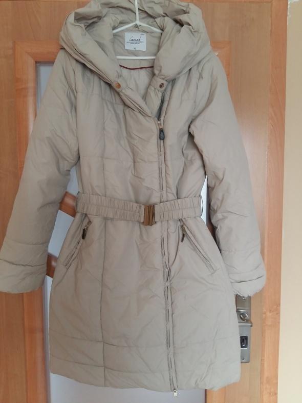 f7a8c298 CARRY beżowy płaszcz nude pikowany zara w Odzież wierzchnia - Szafa.pl