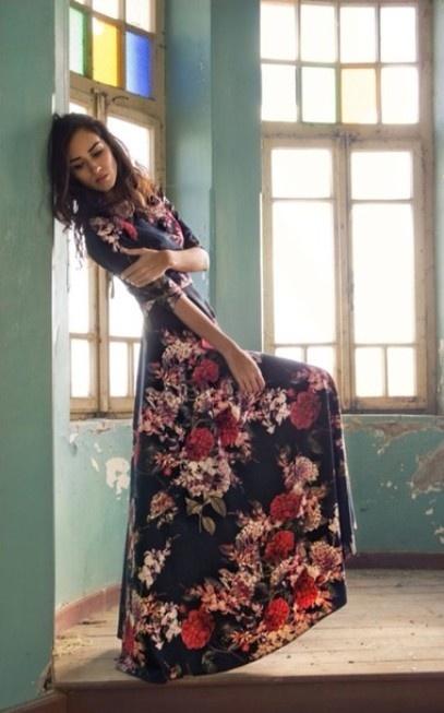 Maxi sukienka w kwiaty...