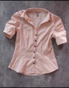 Koszula z bufkami pudrowy róż H&M 36