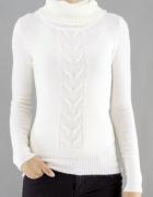 Biały sweter Tally Weijl xxs 32 xs 34 cekiny golf...