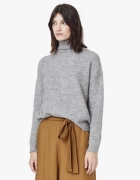 Szary sweter z kominowym kołnieżem Mango...
