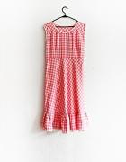 sukienka retro krata różowa pink pin up vintage...