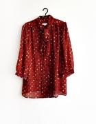 koszula mgiełka kropki grochy kolorowa vintage