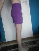 spódnica fuksja mini 34 36