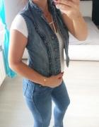 Denim Co jeansowa kamizelka śliczna 36...