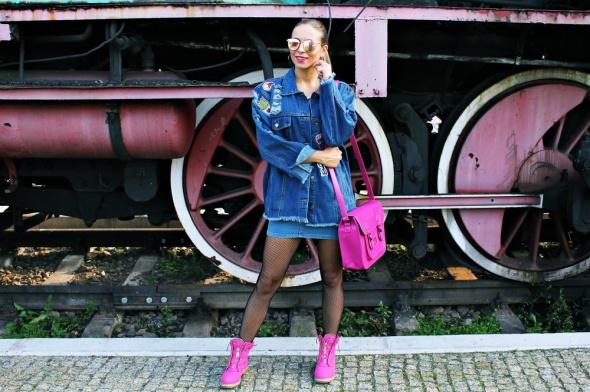Blogerek Kurtka jeansowa