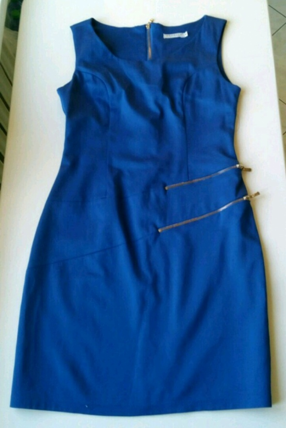 Ciemnoniebieska sukienka rozm M