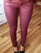 RESERVED tregginsy WOSKOWANE bordo burgund spodnie