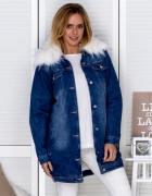 Ocieplana kurtka jeansowa
