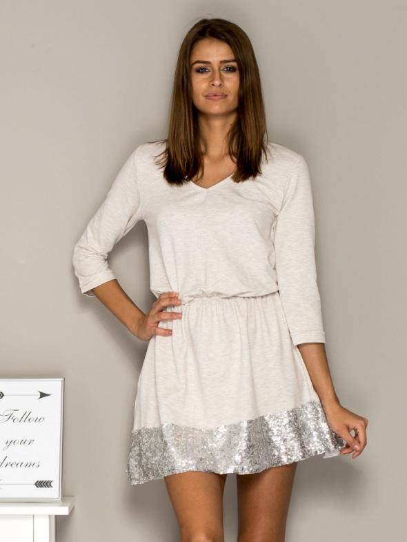 Suknie i sukienki sukienka z cekinowym wykończeniem