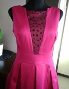 Fuksja różowa fuksjowa sukienka na wesele 38