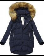 Stylowa kurtka zimowa puchowa z futerkiem