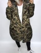 moro długi oversize płaszcz kurtka obszerny milita