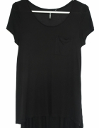 T shirt top Basic Czarny 38 M