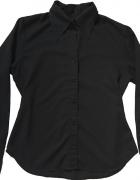 Czarna Koszula Vintage z Epoki Retro Goth 38 M