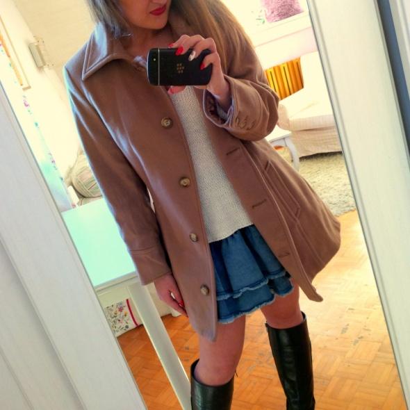 Mój styl beżowy płaszcz