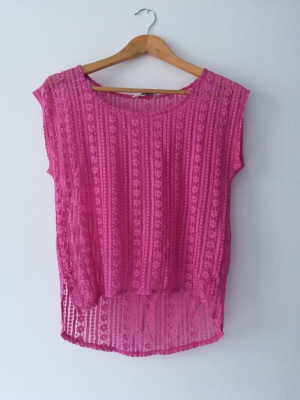 koronkowa różowa bluzka...