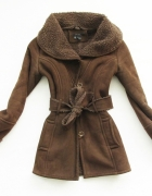 ZARA ciepły gruby zimowy kożuch płaszcz blog 36 S