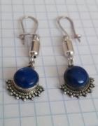 Srebrne kolczyki z lapis lazuli